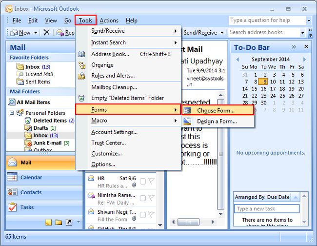 create and save email template in outlook as oft