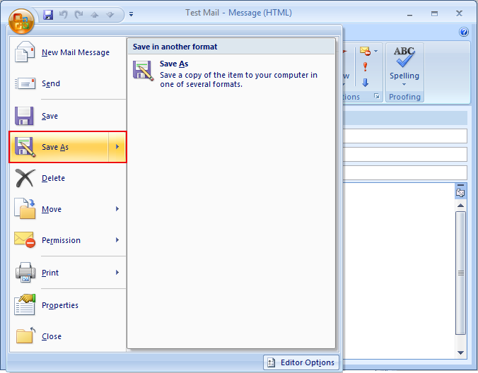 Create and save email template in outlook as oft click on save as maxwellsz
