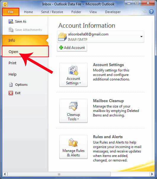 Outlook 2010 Export Pst >> How To Export Emails From Outlook To Pst File