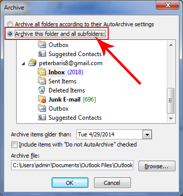 how to turn off tasks in outlook for separate inbox