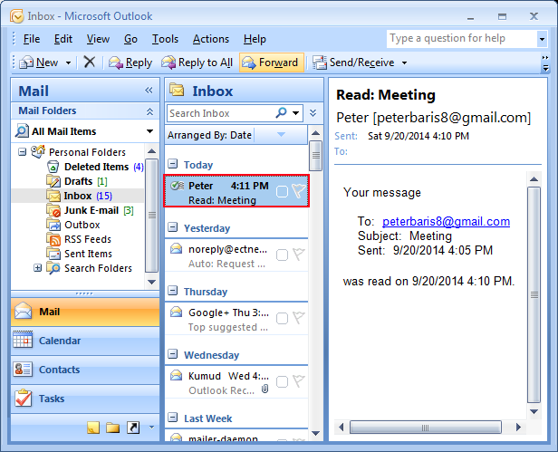 Delivery Read Receipts Confirmation in Outlook for Email – Delivery Receipt