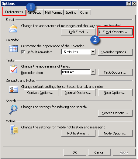 Turn On & Off Sound Notification or Alert in Outlook<