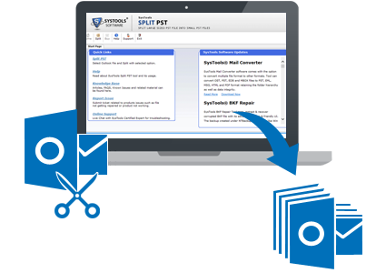 Split Outlook PST file by Date | Year | Size | Folder with PST Splitter